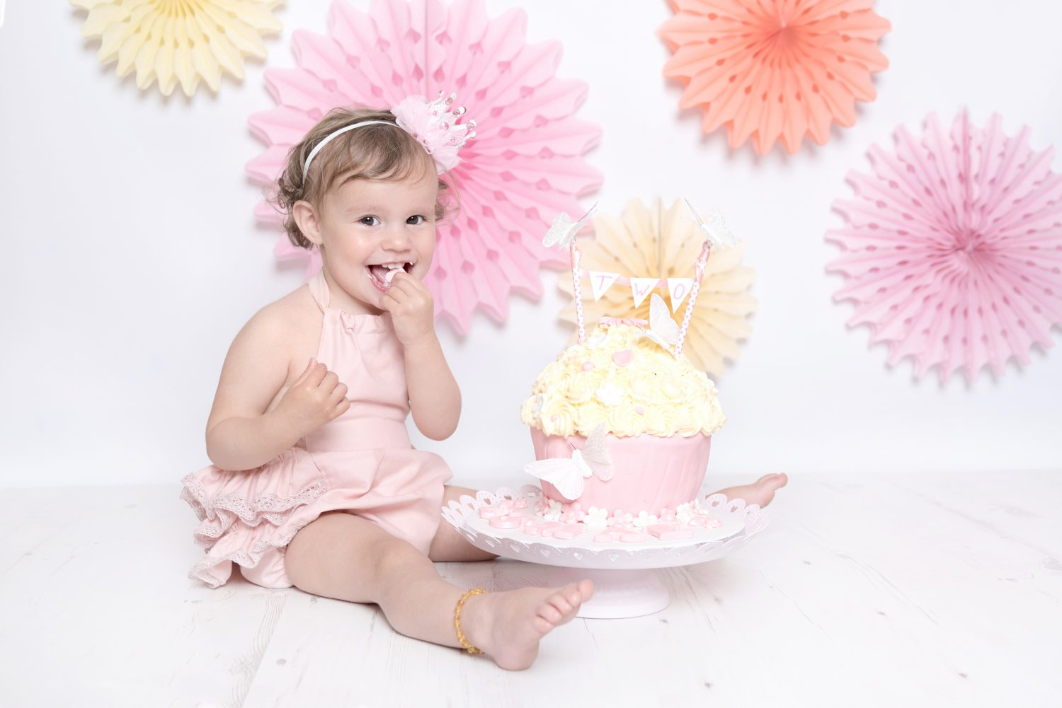 baby girls 2nd birthday shoot